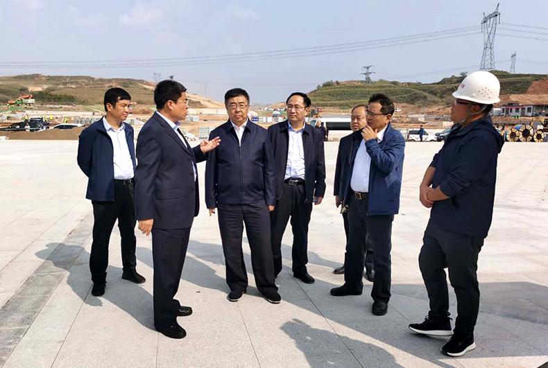 万家寨水控集团总经理樊安顺赴太焦高铁武乡西站项目调研