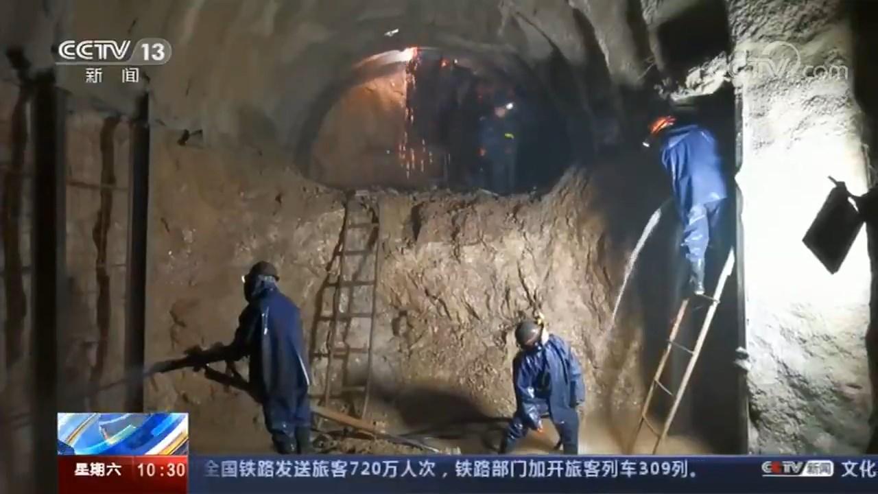 【央视新闻】山西垣曲小浪底引黄引水干线工程今年贯通记者探访地下300米隧道掘进突击队